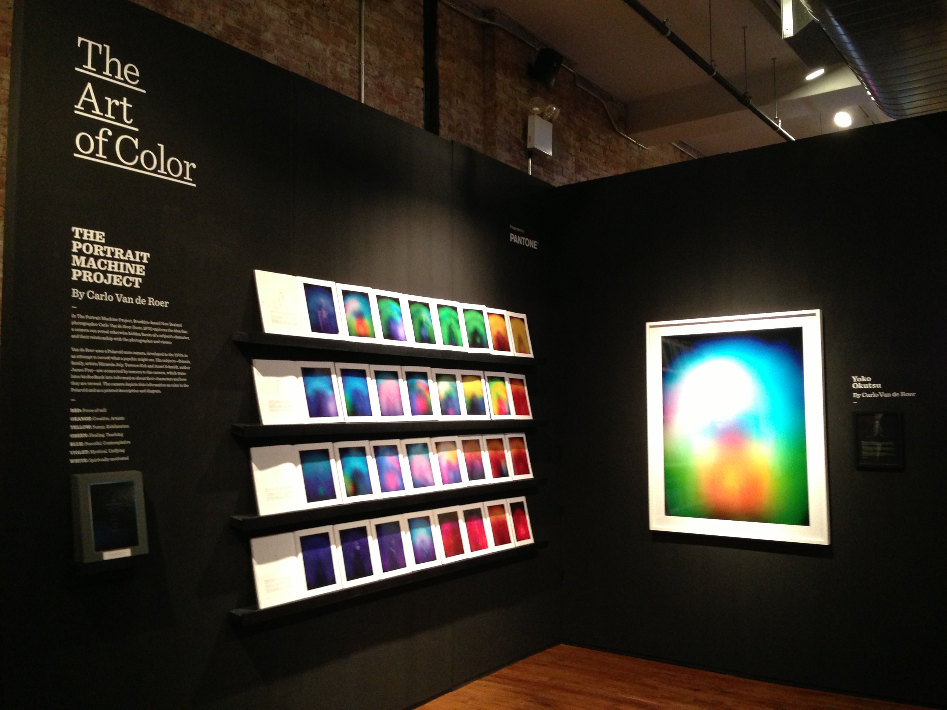 Adobe's Pantone Display booth at Behance's 99U pop up school.