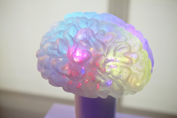 Close up of interactive Brain Display created by Arch for the TEDMED Conference.