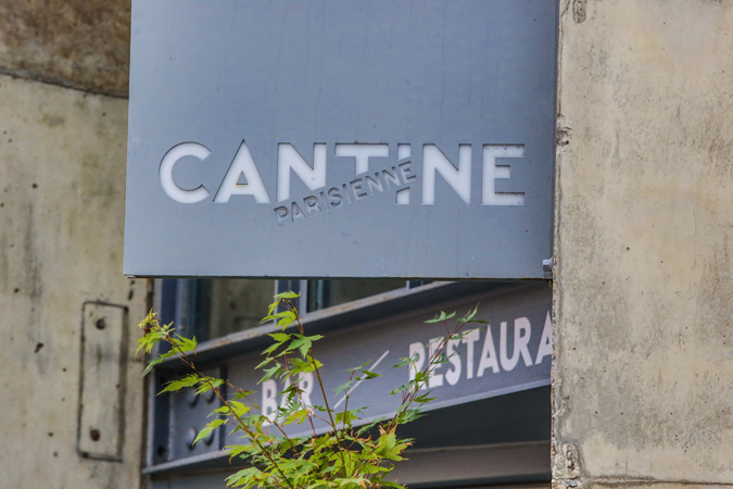 Powder coated metal sign for Bar and restaurant Cantine Parisienne