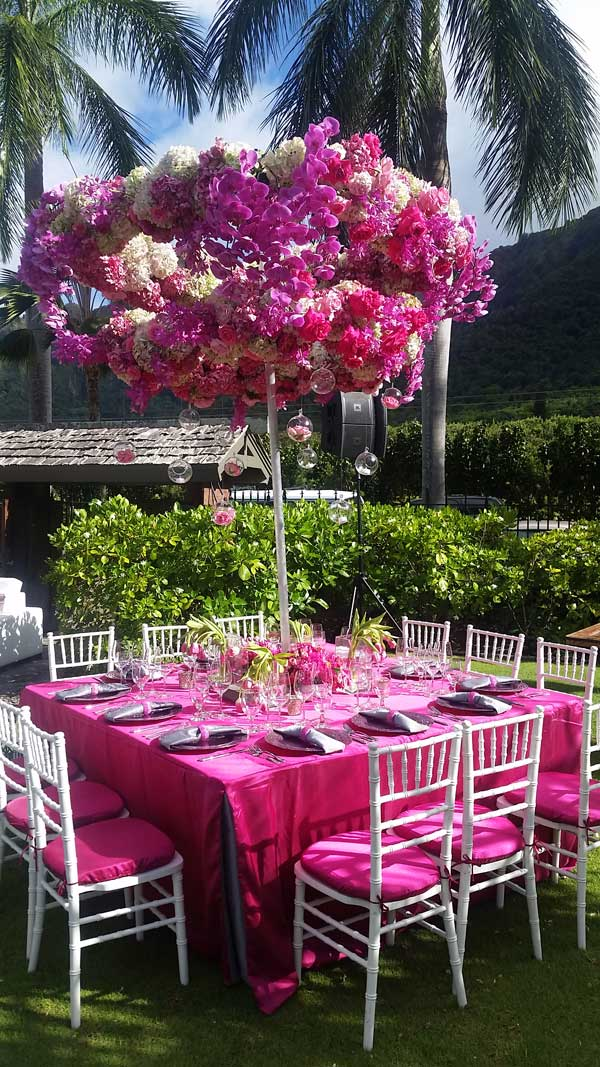 Tulip Dinner Table Awnings Arch Hawaii I Experiential